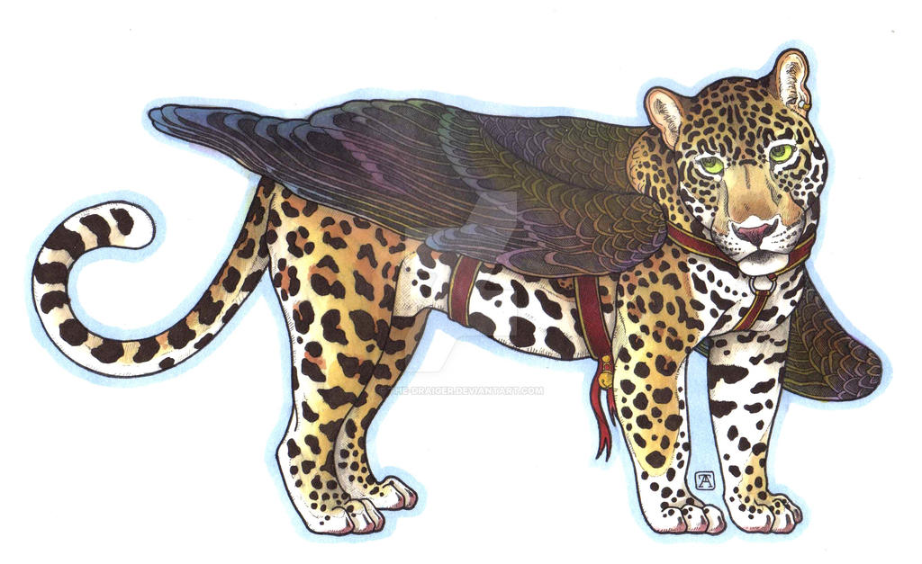 Winged Jaguar by The-Draiger