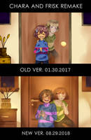 CHARA AND FRISK - REMAKE by HappYEnDay