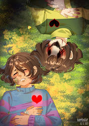 ||UNDERTALE|| Chara and Frisk by HappYEnDay