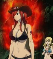 Erza sexy on fire - Fairy Tail ova 7 by Berg-anime