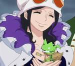 Nico Robin and Leo - One Piece ep 734