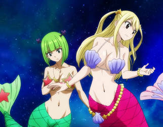 Lucy and Brandish mermaids by Berg-anime