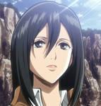 Mikasa - Shingeki no Kyojin season 1 ep 2