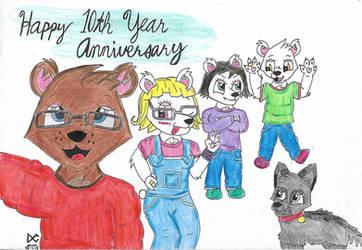 Celebrating the 10 Anniversary (with full story) by BrownbearEdurardo