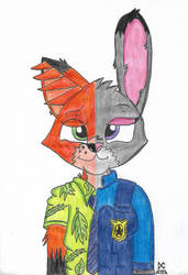 Nick and Judy: The Opposite Sides by BrownbearEdurardo