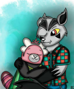 Mightyena and Bewear (Original Characters Version)