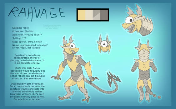 redesigning a childhoold OC: 'Rahvage'