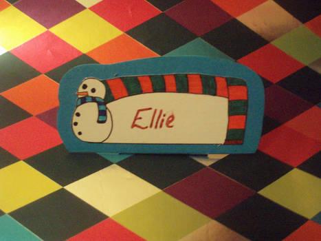 SNOWMAN - Name Card