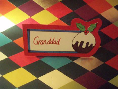CHRISTMAS PUDDING - Name Card