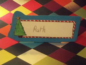 CHRISTMAS TREE - Name Card