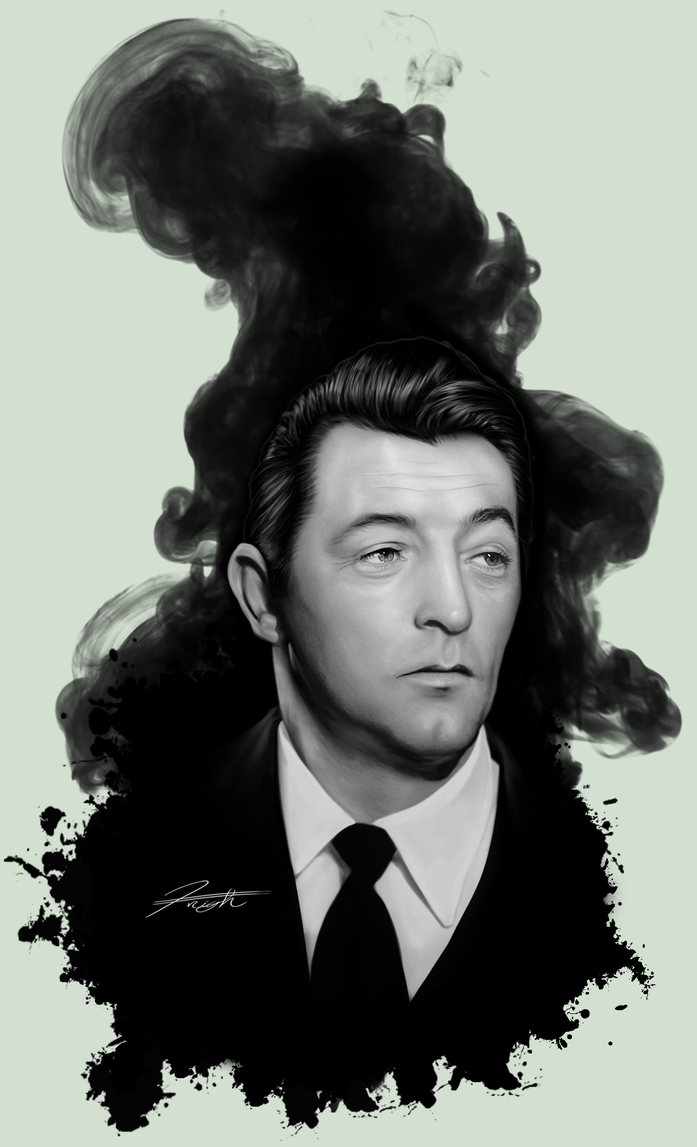 Robert Mitchum Midnight Noir by DJCoulz