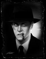 Noir Portrait: Lefty by DJCoulz