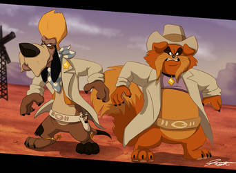 Sheriff Wylie Burp and Tiger by DJCoulz