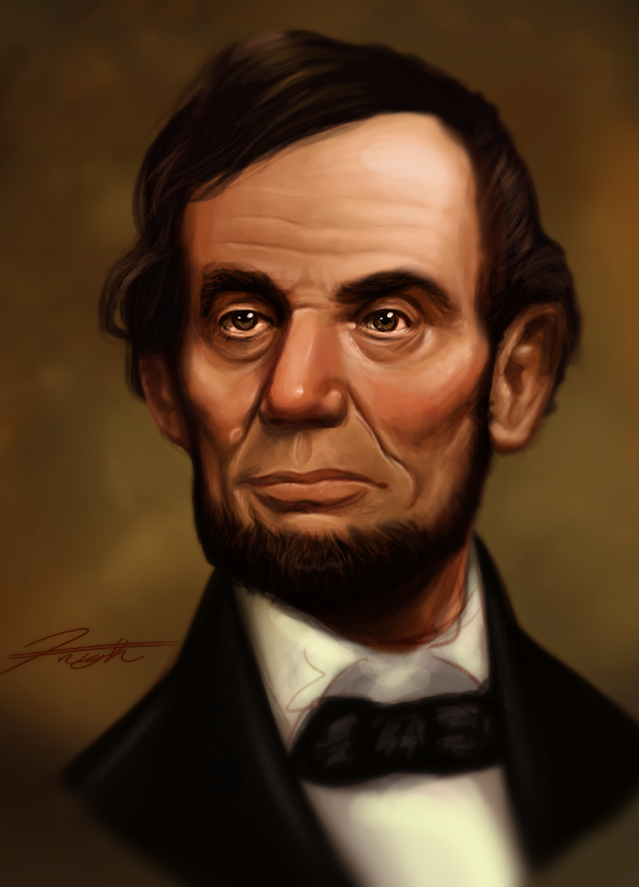 Abraham Lincoln Speed Paint by DJCoulz