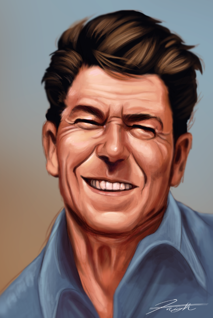 Ronald Reagan Speed Paint by DJCoulz