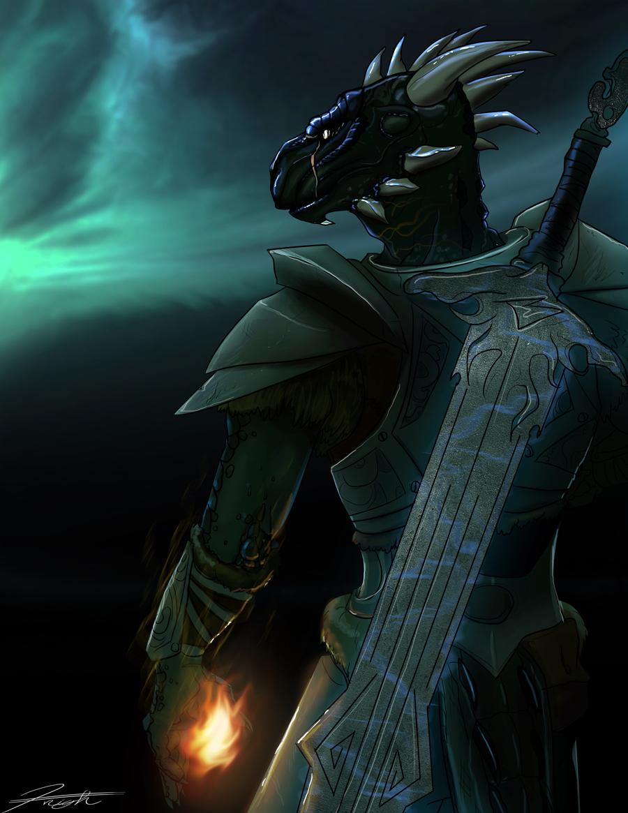 Skyrim  Argonian Knight Theif by DJCoulzArgonian Skyrim