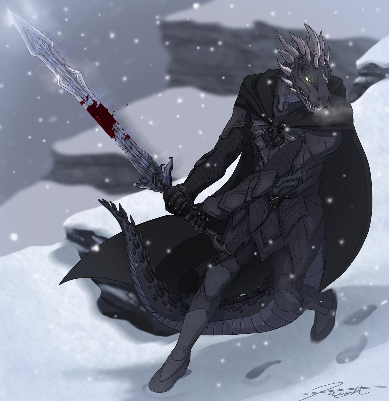 Skyrim - Argonian Nightingale by DJCoulz
