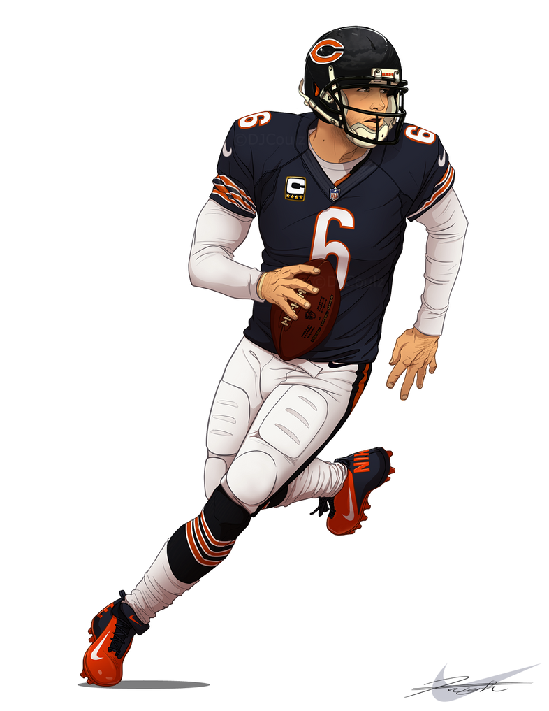 Chicago Bears Jay Cutler 6 By DJCoulz