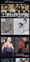 2017 Commission Prices by DJCoulz