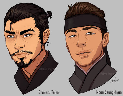 Young Teizo and Seung-hyun Headshots