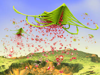 Fractals sowing fractals by janhein