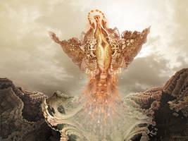 Fractal Phoenix arising by janhein