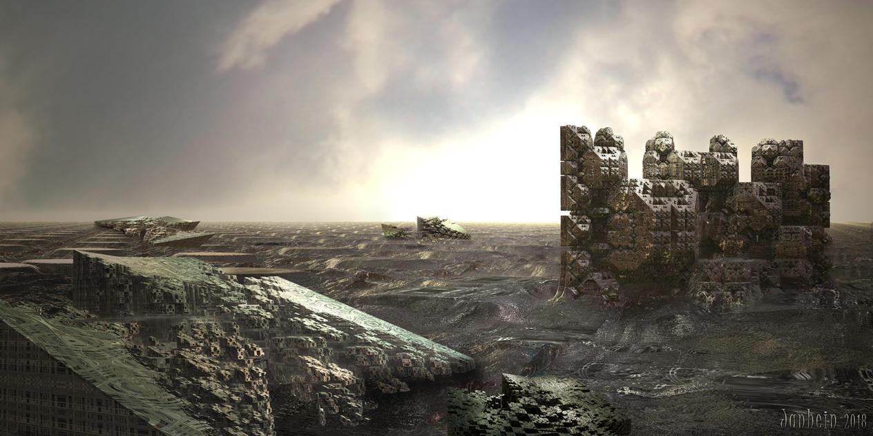 Dystopian landscape by janhein