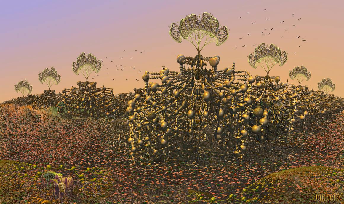 Alien Tree Machines by janhein
