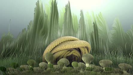 Strange fractal life forms