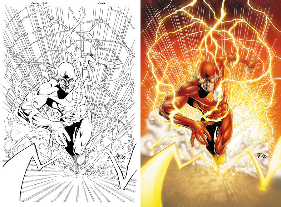 Flash Before and After