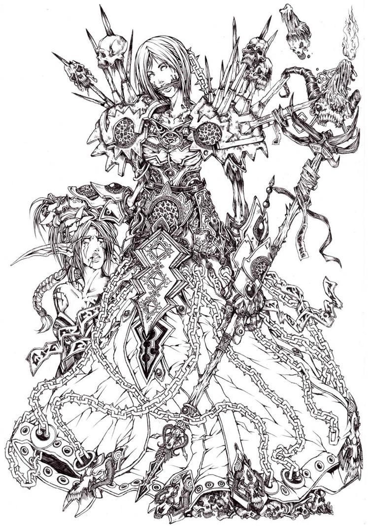 Forsaken Warlock by muju
