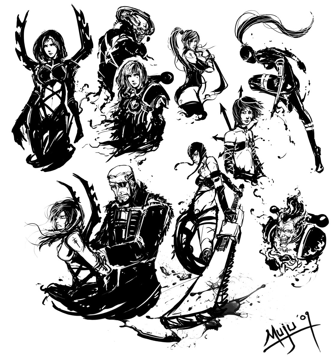 40k midnight scribbles by muju