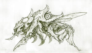 Zerg - Nydus Guardian Lineart