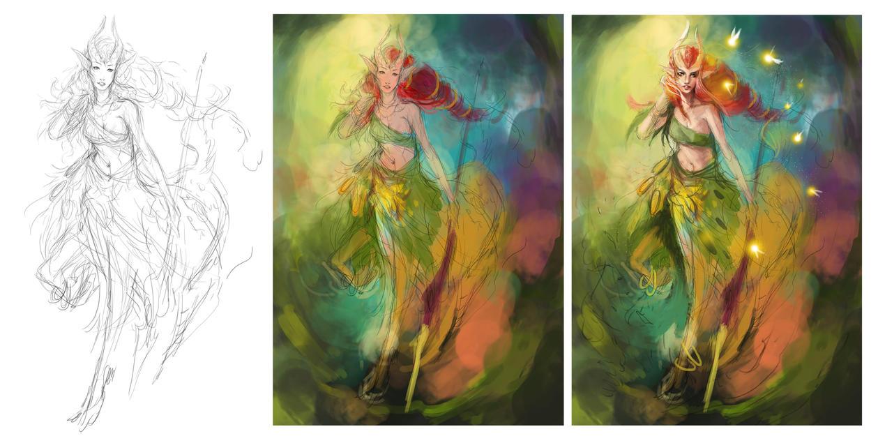 Enchantress -wip- process by muju