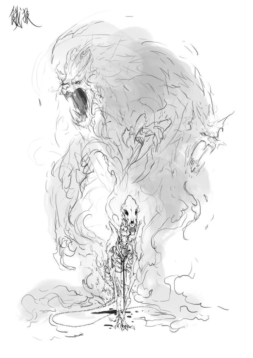 Garou concept sketch by muju
