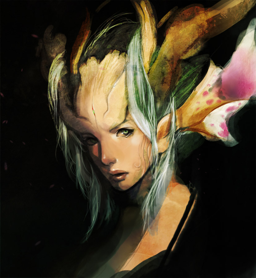Herald of spring face study by muju