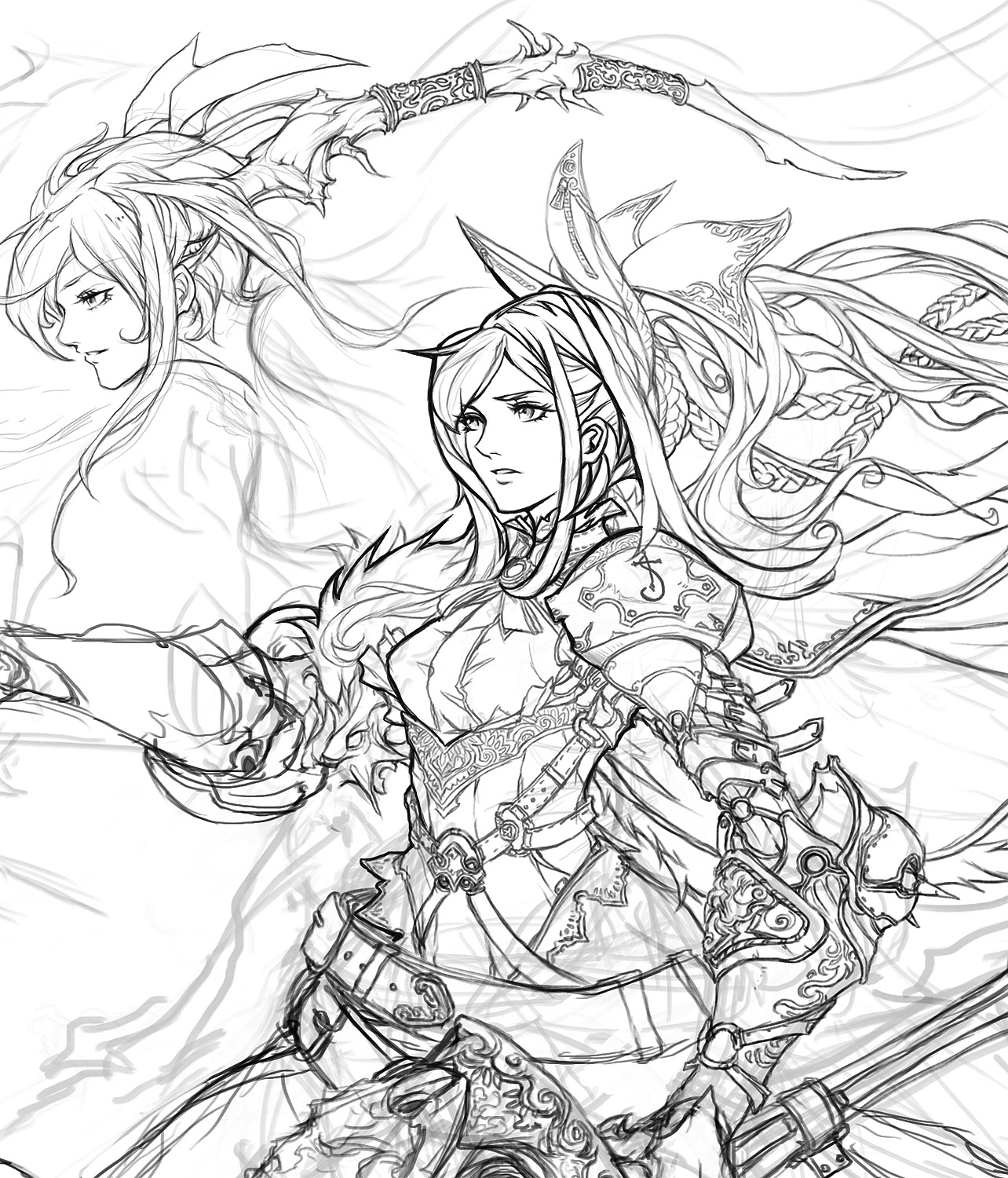 Line Drawing Artist Research : Stream lineart by muju on deviantart