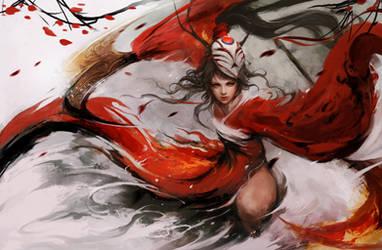Bloodmoon Akali by muju