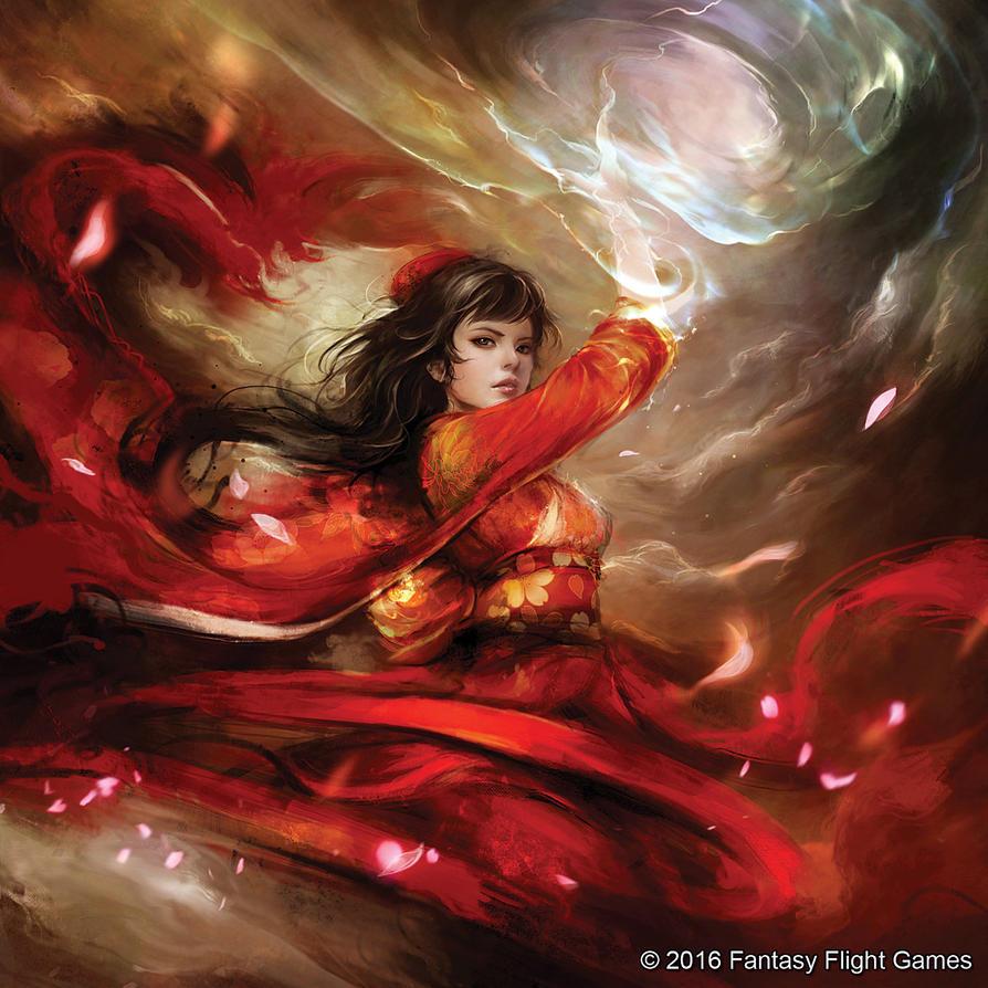 L5R -  Phoenix Shugenja by muju