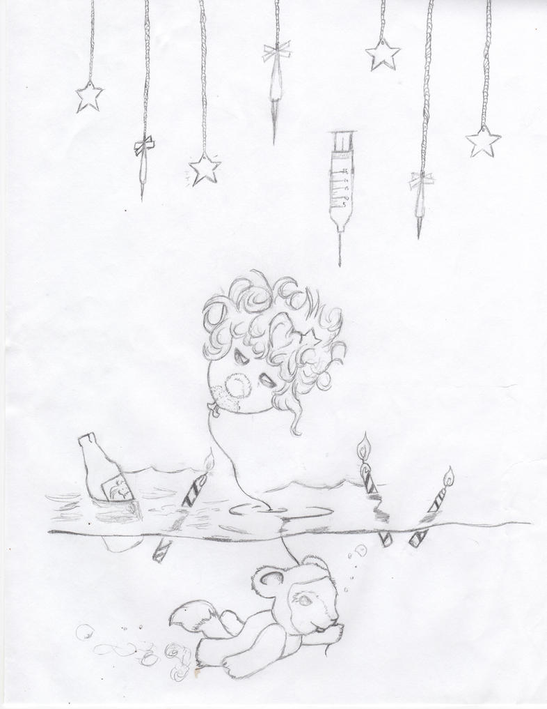 Clown on a String. by crushedbox
