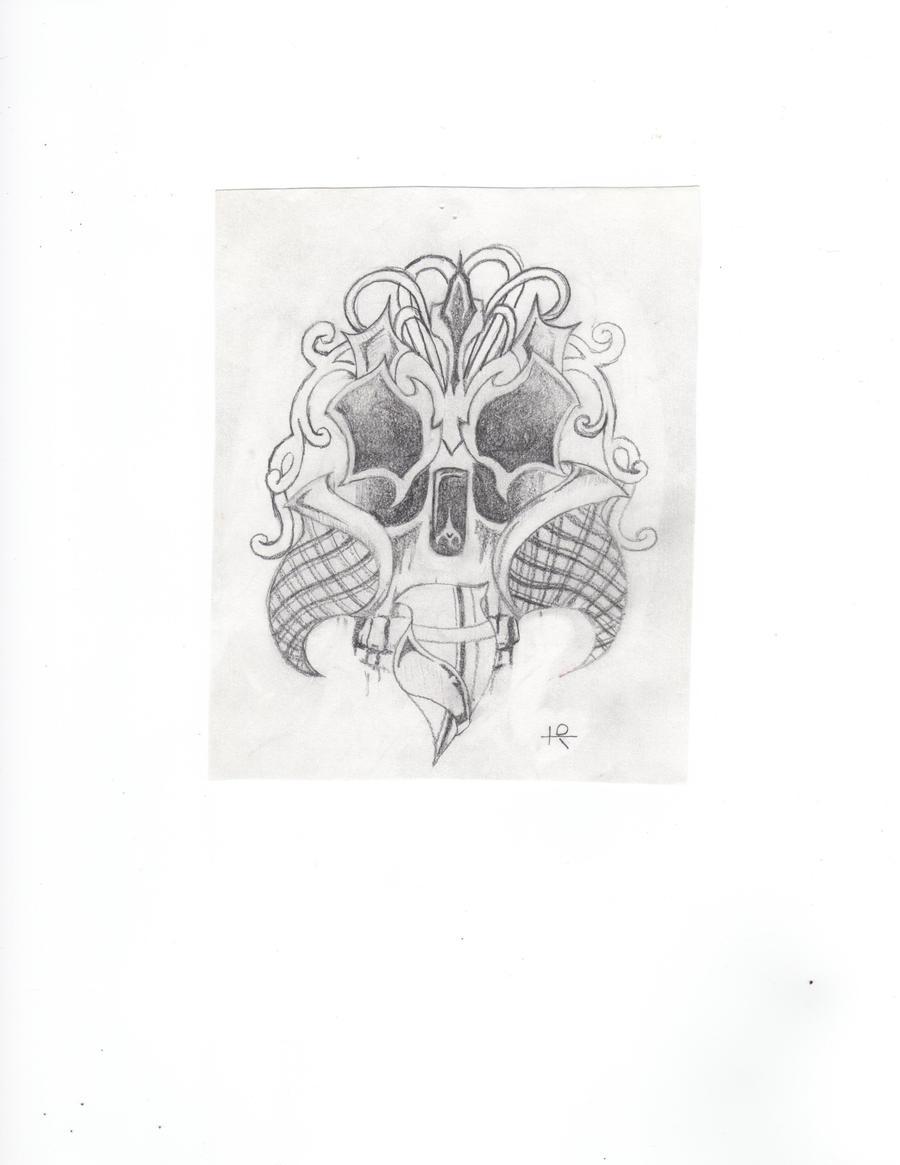 Hiden skull by crushedbox