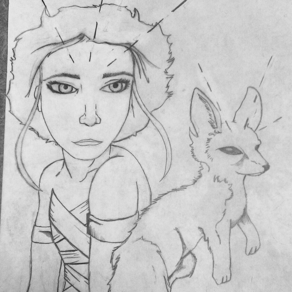 Fencing Fox Queen by crushedbox