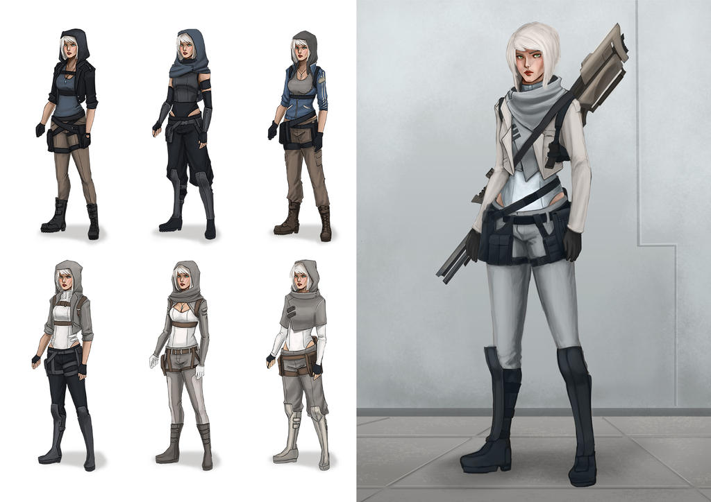 Avarice character and outfit designs 2 by ArtZombi3