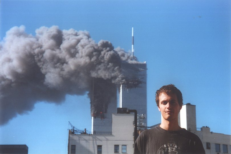 Twin Tower Demon Face  twin towers devil face  911