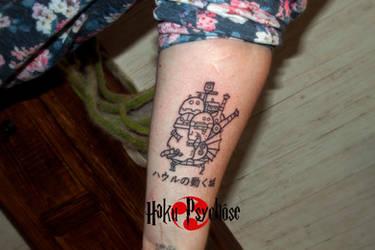 49c4803703dd0 Howl's Moving Castle Tattoo by Haku-Psychose