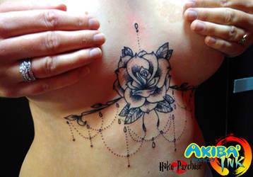 4aa1952936816 ... Underboobs rose dotwork tattoo by Haku-Psychose