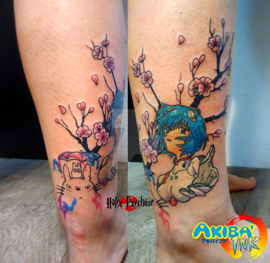 cca05b810ca4e Rei Ayanami and Totoro and Sakura tattoo by Haku-Psychose on DeviantArt