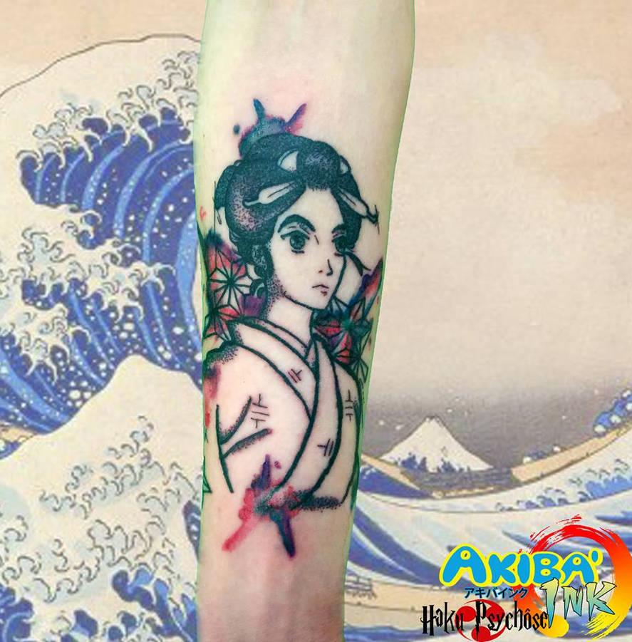 bd45e0f3e860d Miss Hokusai tattoo by Haku-Psychose on DeviantArt