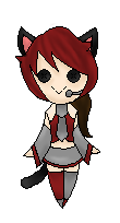 [Commision] Kitty Vocaloid Pixel Doll by KingdomWielders