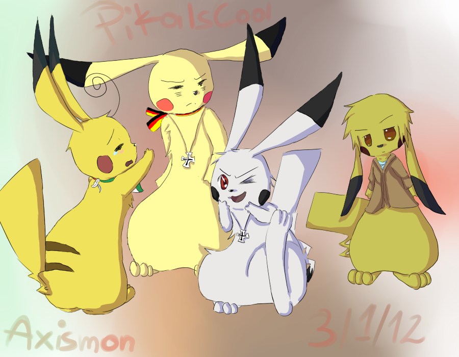 Axismon - Pikachu Axis powers by PikaIsCool